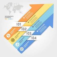 plantilla de elementos de infografías de negocios. ilustraciones vectoriales. se puede utilizar para diseño de flujo de trabajo, banner, diagrama, opciones numéricas, diseño web, plantilla de línea de tiempo. vector