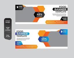 Food banner template design set vector