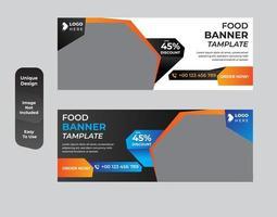 Fast food restaurant menu template Design set vector