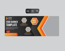 Food banner design template vector