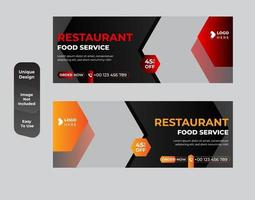 Brunch theme for restaurant banner template set vector