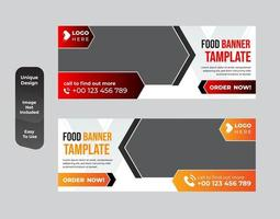 Restaurant business banner template design set vector