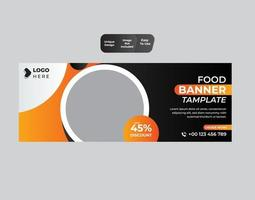Food banner template design vector