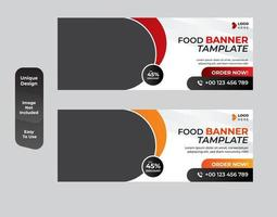 Banner design for breakfast restaurant set