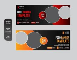 Healthy food banner template style set vector