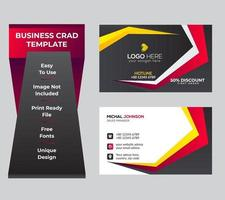 Business card set or template set vector