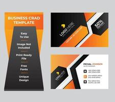 Business card set or template vector