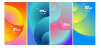Vector colorful geometric and curve background