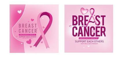 Breast cancer awareness month campaign vector