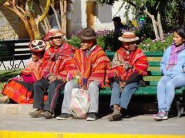 Peru 2015-- Locals in Ollantaytambo Peru photo