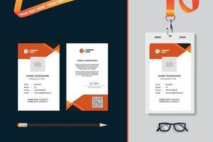 simple Id card template design vector