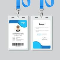 simple Id card template design vector