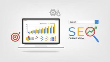 SEO optimization concept vector illustration.