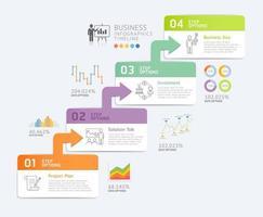 plantilla de diseño de infografías de negocios. ilustración vectorial. se puede utilizar para diseño de flujo de trabajo, diagrama, diseños web. vector