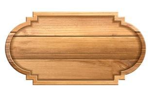 Signo de textura de madera aislado sobre fondo blanco. ilustración vectorial vector