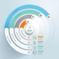 plantilla de elementos de infografía empresarial. ilustraciones vectoriales. se puede utilizar para diseño de flujo de trabajo, banner, diagrama, opciones numéricas, diseño web, plantilla de línea de tiempo. vector