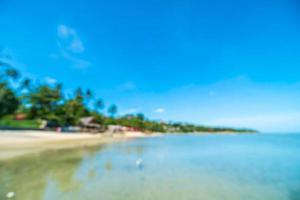 playa tropical borrosa abstracta