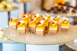 Sweet desserts on a table photo