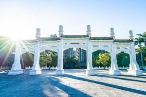 Puerta en el museo del palacio nacional de Taipei en la ciudad de Taipei, Taiwán