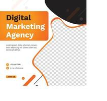 Digital marketing agency social media post template design.