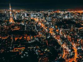 Tokyo cityscape at night photo