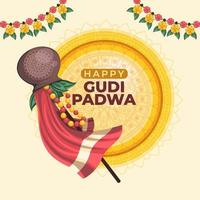 Happy Gudi Padwa Background vector