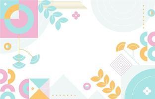 fondo geométrico de color pastel vector