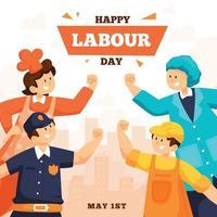 Labour Day Design Concept vector