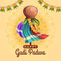 Beautiful Gudi Padwa Background vector