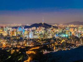 paisaje urbano de seúl, corea del sur foto