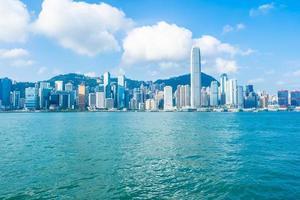 Hong Kong city skyline, China