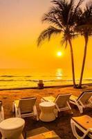 Beach at sunset photo