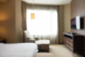 Abstract blurred bedroom photo