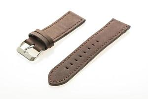 Leather watch strap photo