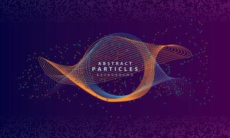 Dynamic abstract particles background with purple overlap layers. Texture with glitters dots element decoration. vector