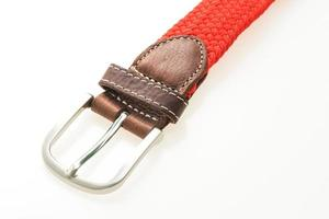 Belt with buckle on white background photo