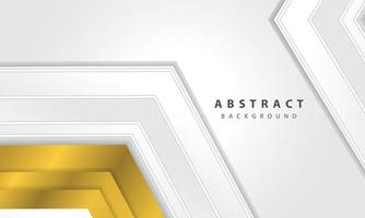 Abstract white background vector with gold arrow layer.