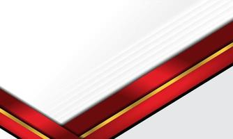 Modern vector abstract red and gold stripes on white background. Elegant concept design vector design template for frame, cover, banner, card use