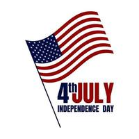 Happy USA Independence Day 4th of July. Flag, Banner, Poster, Brochure, Greeting card Design. Vector illustration