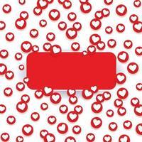 Social network like love icons. Design Elements for Business, Website, Internet, Application, Analytics, Promotion, Marketing. Vector illustration