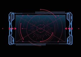 Fondo de tecnología moderna. elementos de la pantalla de destino. Esquema de la interfaz de usuario de hud para empresas. ilustración vectorial vector