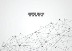 puntos y líneas de conexión abstractos con fondo geométrico. ciencia de conexión de tecnología moderna, fondo de estructura poligonal. ilustración vectorial vector
