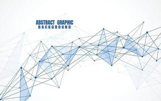 Abstract connecting dots and lines with geometric background. Modern technology connection science, Polygonal structure background. Vector illustration