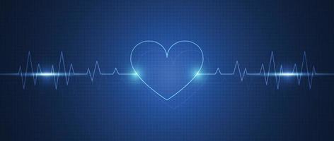 Heart pulse line for banner. Vector illustration