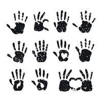 Hand print set vector