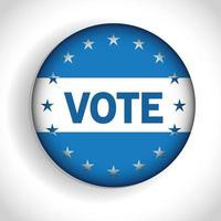 Presidential election usa vote button with stars vector design