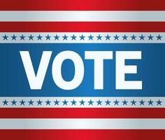 Presidential election usa vote with stars vector design