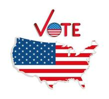 Presidential election banner with map vector design