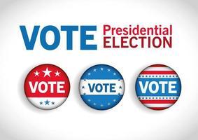 Vote button set vector