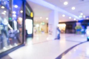 Abstract blurred shopping mall interior photo